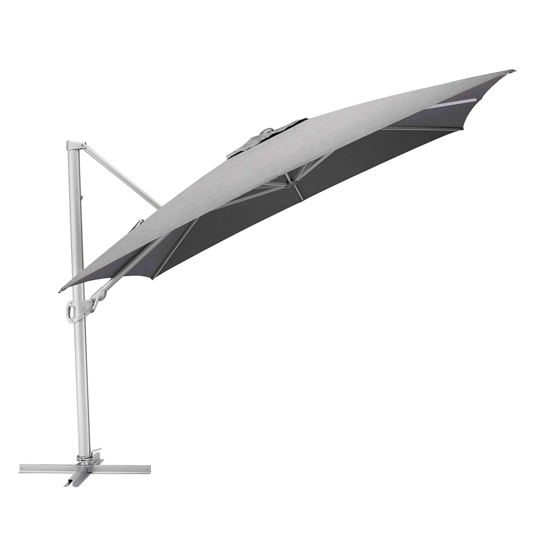 Kettler Sonnenschirm Easy Turn Ampelschirm 300 x 300 cm Silber/Charcoal