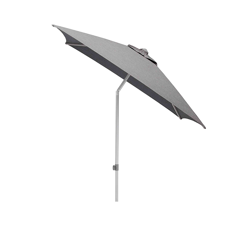 Kettler Sonnenschirm Easy Push 200x200 cm Silber/Charcoal