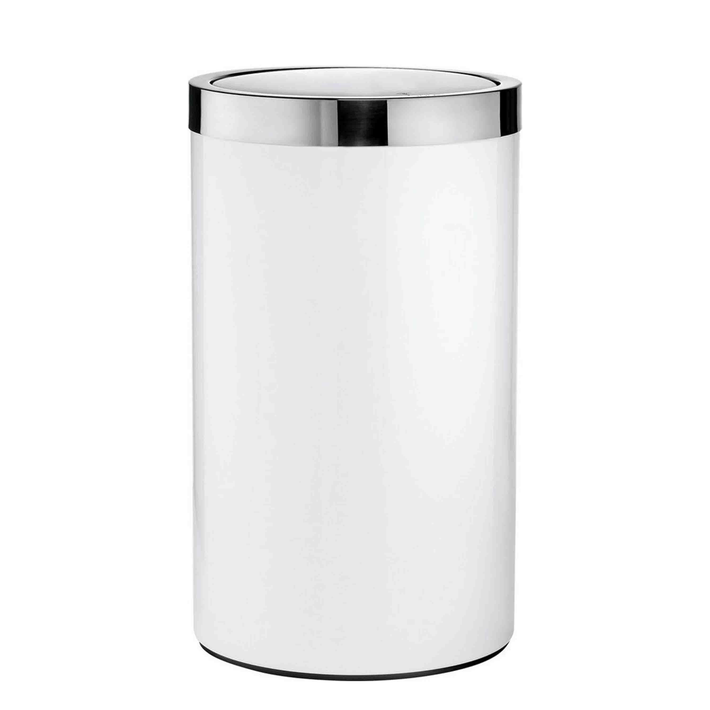 Joop! Wäschebehälter Chromeline Höhe 35 cm Chrom Weiß